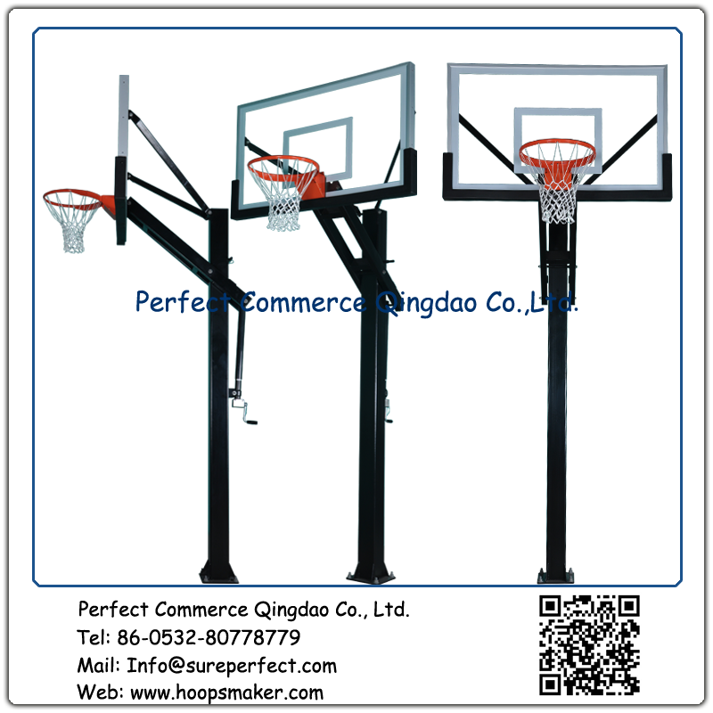 Wholesale outdoor adjustable in ground easy to assemble basketball stand with 60